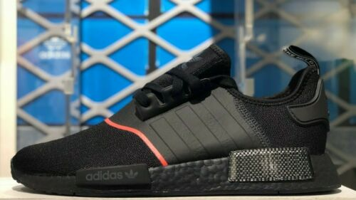 adidas nmd black solar red