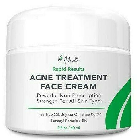 Vie Naturelle Acne Treatment Cream 5 Benzoyl Peroxide Clear Skin