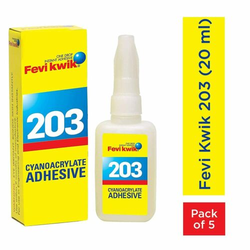 Pidilite Fevikwik 203 Cyanoacrylate Adhesive 100 Ml 5 U X 20 Ml Each Buy Products Online With Ubuy Sri Lanka In Affordable Prices 184295730423