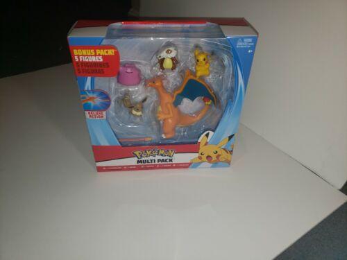 "Eevee Ditto Pokemon Charizard Cubone /& Pikachu Action Figures 5-Pack  /""NEW/"""