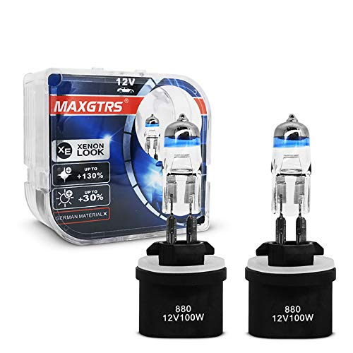Pack of 2 MAXGTRS 880 High Brightness Halogen Headlight Bulb 884 885 890 892 893 899 H27 Motorcycle Light Replacement 4300K Warm White High or Low Beam for Car Motorcycle