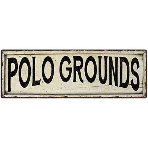 Buy Polo Grounds Sign Farmhouse Signs Wall Decor Art Country Decorations Rustic Vintage Home Tin Plaque Baseball Sports Gift 6 X 18 High Gloss Metal 206180028246 Online In Sri Lanka B07n2f7k4k