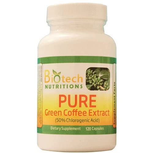 Biotech Nutritions Pure Green Coffee Bean Extract 120 Count Buy