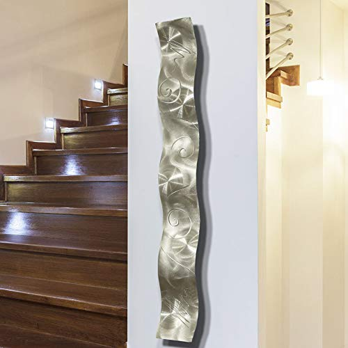 Buy Silver 3d Abstract Metal Wall Art Sculpture Wave Modern Home Decor By Jon Allen 46 5 X 6 Online In Sri Lanka B081k9qcn8