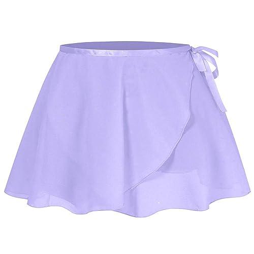 storeofbaby Dance Skirt for Girls Toddler Kids Basic Plain Chiffon Pull on Tie Ballet Wrap