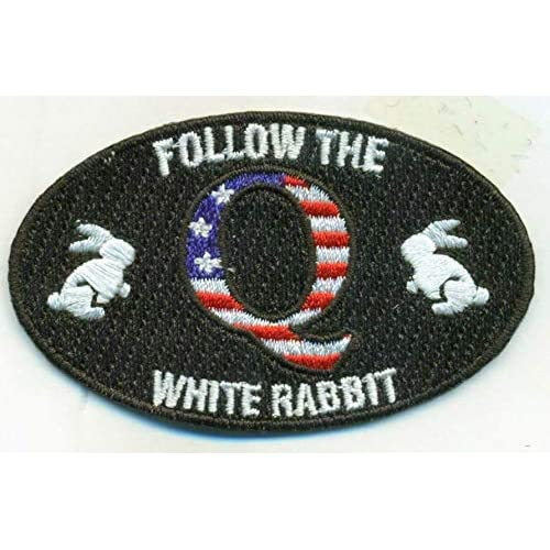 Qanon Iron On Embroidered Embroidery Patch Patches Follow The White Rabbit The Punisher Wwg1wga Q Trump Anon 2 8 X 1 8 Inches Buy Products Online With Ubuy Sri Lanka In Affordable Prices B07mfb4791