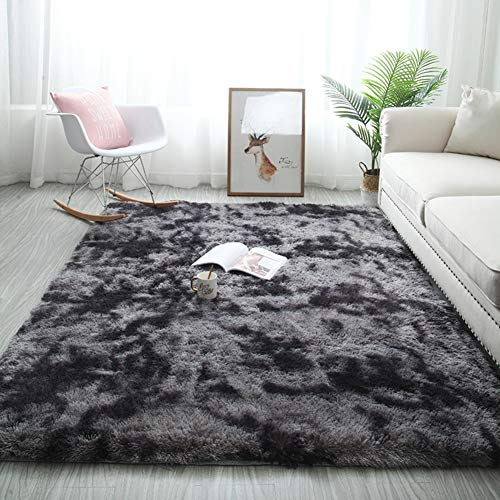 Lovehouse Shaggy Rug For Living Room Super Soft High Pile Fluffy Area Rug Rectangular Luxury Cozy Carpet Bedroom Bedside Rugs Dark Gray 50x160cm20x63inch Buy Products Online With Ubuy Sri Lanka In Affordable