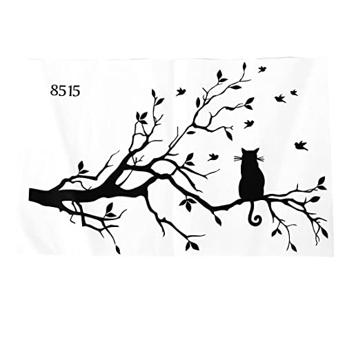 Buy Toogoor Newly Designed Cat On Long Tree Branch Diy Vinyl Wall Sticker Animals Birds Wall Decal Art Transfers Window Sticker Home Decor 99150cm Online In Sri Lanka B00xxttvnw