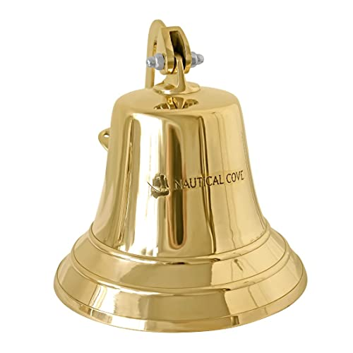 Buy Nautical Cove Solid Brass Ships Bell 8 Tall And Wall Mountable Clear Ring For Indoor And Outdoor Use Online In Sri Lanka B07bn29kwf