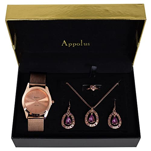 Gifts For Women Best Gift For Mom Wife Girlfriend Birthday Graduation Anniversary Appolus Watch Necklace Earrings Ring Set Rose Gold Buy Products Online With Ubuy Sri Lanka In Affordable Prices B07wgqfnlk