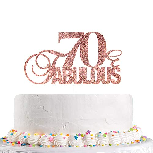 Talorine Glitter 70 Fabulous Cake Topper For Happy 70th Birthday Cake Topper 70th Wedding Anniverdary Party Decorations Buy Products Online With Ubuy Sri Lanka In Affordable Prices B087cfv2fj