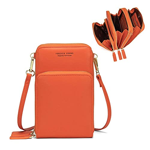 Science Fiction Lightweight Small Crossbody Bags Leather Cell Phone Purses Travel Pouch Shoulder Bag Wallet With Credit Card Slots for Women