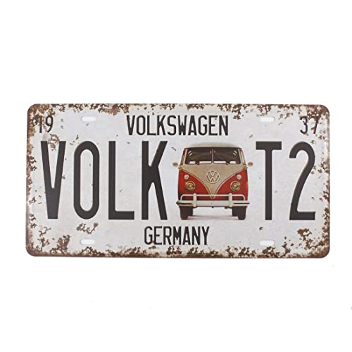 6x12 Inches Vintage Feel Rustic Home Bathroom And Bar Wall Decor Car Vehicle License Plate Souvenir Metal Tin Sign Plaque Germany Volkswagen Buy Products Online With Ubuy Sri Lanka In Affordable Prices