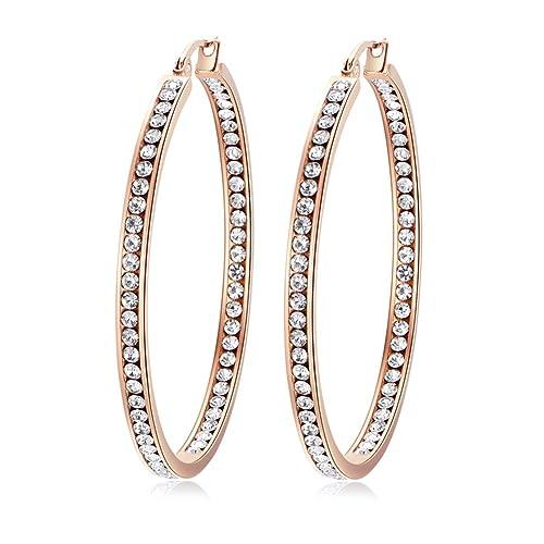 steampunk jewellery nickel free earrings hypoallergenic earrings Stainless steel hoops earrings for sensitive ears heart hoop earrings