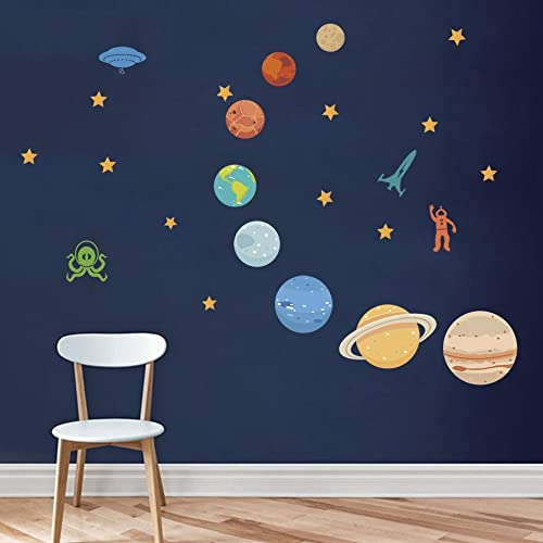 Buy Decalmile Planets In The Space Wall Decals Solar System Kids Wall Stickers Peel And Stick Removable Vinyl Wall Art For Kids Bedroom Nursery Baby Room Classroom Online In Sri Lanka B07bwcyymz