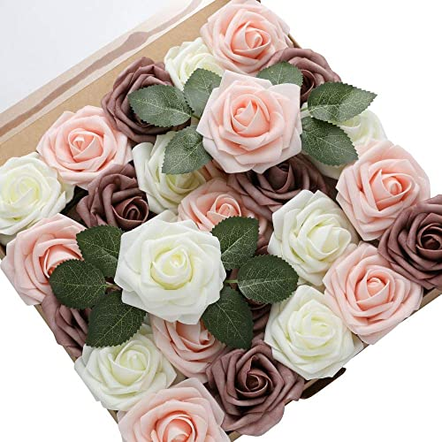 Buy Derblue 60pcs Artificial Roses Flowers Real Looking Fake Roses Roses Decoration Diy For Wedding Bouquets Arrangements Party Baby Shower Home Decorations Online In Sri Lanka B089sk73zs