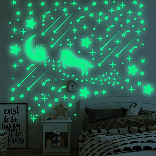 Buy Zhiyu Art Decor 296 Pcs Glow In Dark Stars And Unicorn Glowing Stars For Ceiling Stars Wall Decals For Kids Nursery Room Unicorn And Stars Online In Sri Lanka B0813324fg