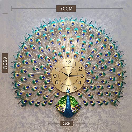 Buy Home Decoration European Peacock Wall Clock Crystal Luxury Living Room Clock Creative Personality Art Decoration Wall Clock Gold Carl Artbay Beautifully Decorated Clocks Color Colored Online In Sri Lanka B07rl3x7yy