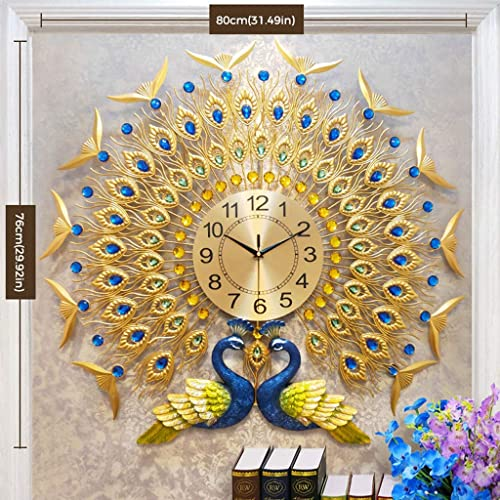 Buy Langshi Peacock Wall Clocks Large Decoration Online In Sri Lanka B07x2hfqm5