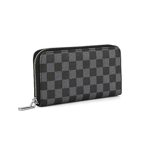 Qeggs Women/'s Zipper Wallet Coin Purses Clutch Handbags for Phone and RFID Blocking Card Holder