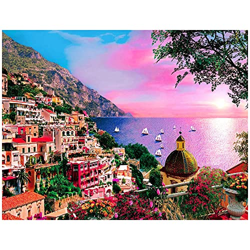 Romantic Towns 1000 Pieces Adult Puzzles Difficult Jigsaw Puzzle Growups Puzzle