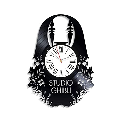 Kovides Spirited Away Art Original Clock Anime Wall Clock Large For Kids Minimalist Decor For Kids Room For Boys Girls Studio Ghibli Clock Vintage Vinyl Record Clock Buy Products Online With