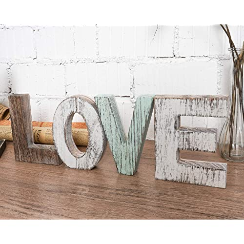 Buy Timeyard Wood Love Signs Wall Decor Wooden Blocks Rustic Letters Cutout Farmhouse Home Table Centerpiece Decor Multicolor Freestanding With Double Sided Foam Tape Gift For Valentine Thanksgiving Online In Sri Lanka