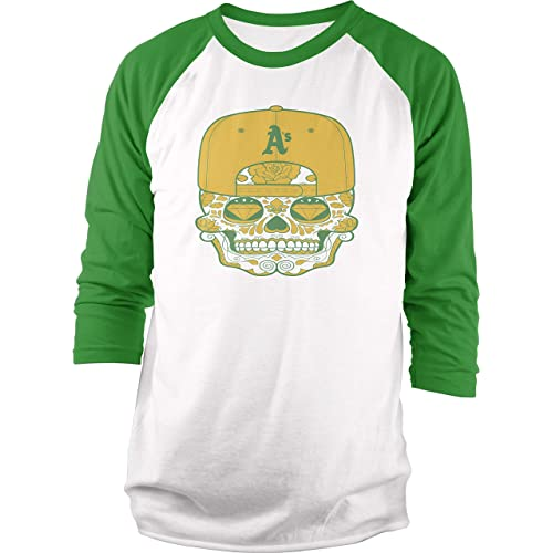 Green /& Gold Millionaire Mentality Oakland As Long Sleeve T-Shirt New