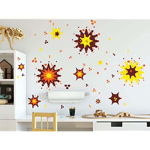 Buy Create A Mural Video Game Explosion Wall Decals Boys Room Decor Vinyl Graphic Wall Art Peel N Stick Online In Sri Lanka B07srtqxz6