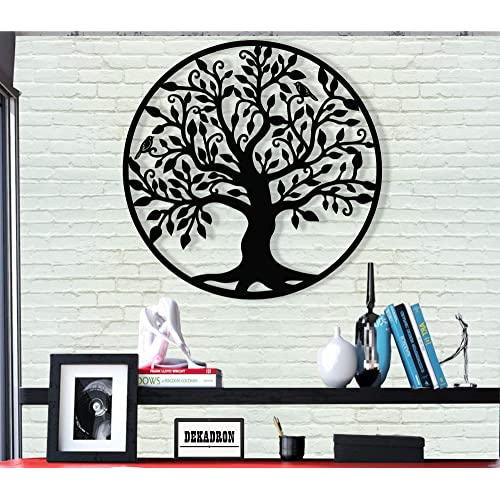 Buy Dekadron Metal Wall Art Tree Of Life Family Tree 3d Wall Silhouette Metal Wall Decor Home Office Decoration Bedroom Living Room Decor Sculpture 17 W X 18 H44x46cm