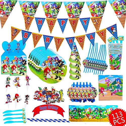 113 Pcs Sonic The Hedgehog Party Supplies Sonic The Hedgehog Birthday Decorations Sonic The Hedgehog Plates Banner Plates Cake Topper Party Supplies Kids Birthday Buy Products Online With Ubuy Sri Lanka In Affordable Prices B088th1hz9