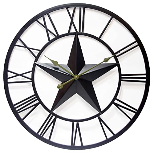 Buy 27 Inch Large Metal Wall Clock With Tin Star Patriot By Infinity Instruments Online In Sri Lanka B076cht8m3