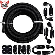 8.71mm ID 3//8 Fuel Line Braided 6AN 10ft Transmission Cooler Hose for Oil,Gas,Fuel,Hydraulic 500-2000 psi High Pressure /& Tamper Resistant