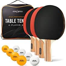 3-Star Family Indoor or Outdoor Fun NENGEN Professional Table Tennis Set with Portable//Retractable Net 2 Ping Pong Paddles Professional Grade Balls Storage Case